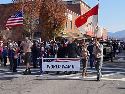 veterans day parade franklin nc